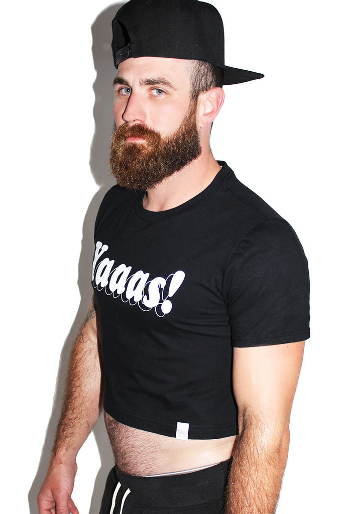 Yaaas! Crop Tee- Black