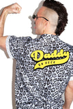 Daddy On Deck Jaguar Print Shirt - Gray