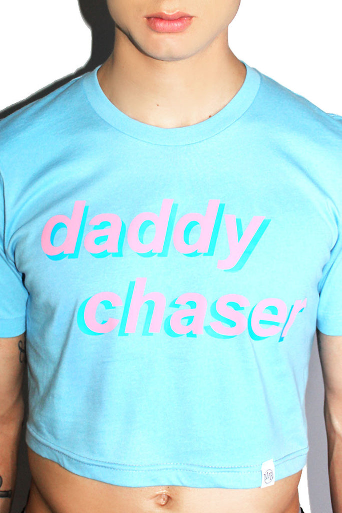 Daddy Chaser Crop Tee- Blue