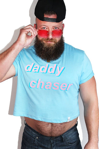 PLUS: Daddy Chaser Crop Tee- Blue