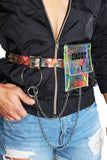 Daddy Iridescent Fanny Pack-Clear