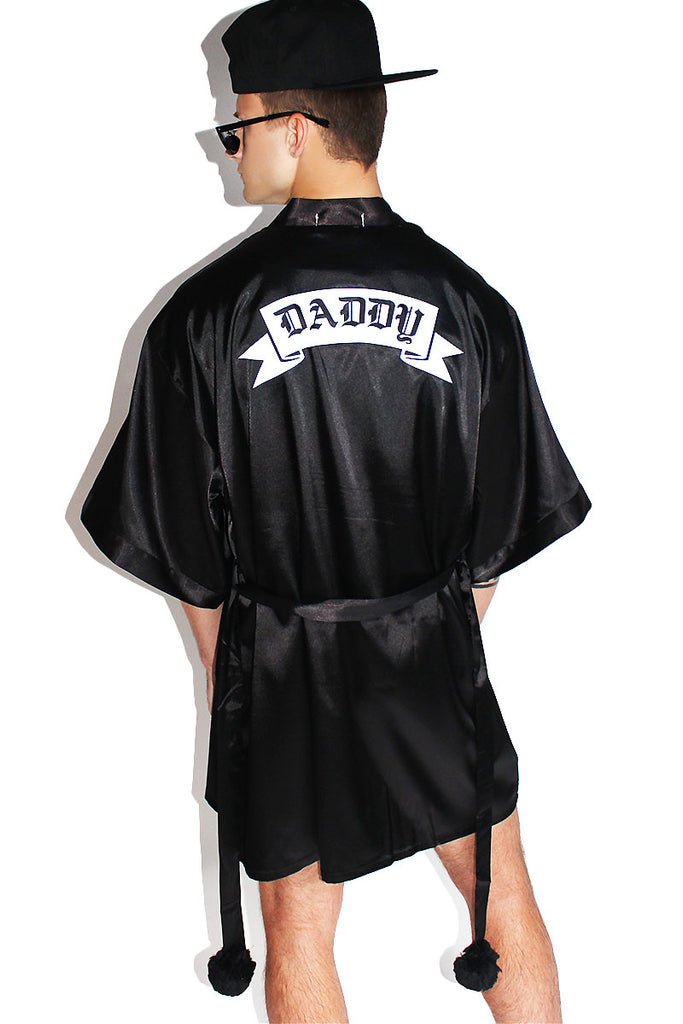 Daddy Lounge Robe-Black