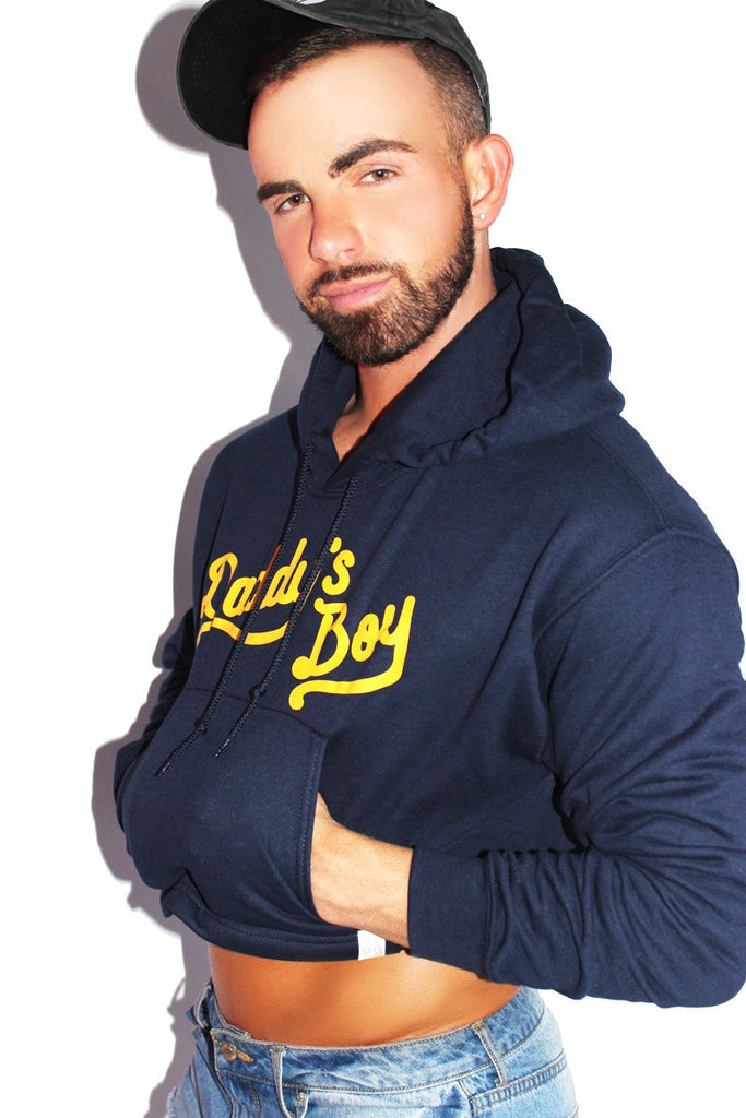 Daddy's Boy Crop Long Sleeve Hoodie