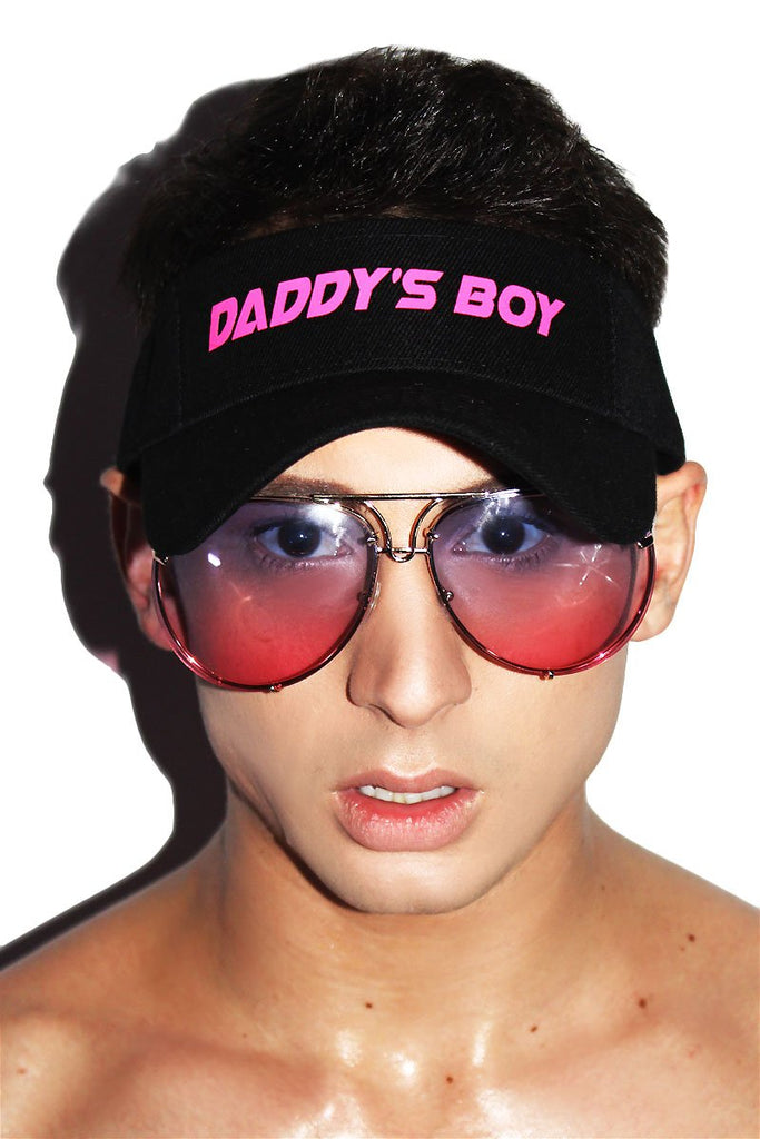 Daddy's Boy Visor Hat-Black
