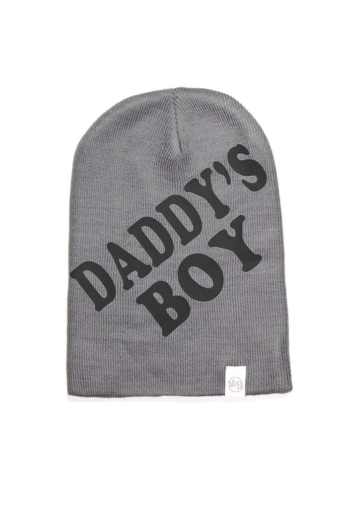 Daddy's Boy Beanie- Charcoal
