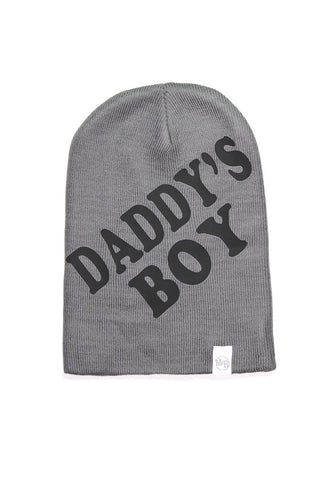 Daddy's Boy Crop Tee- Dark Charcoal