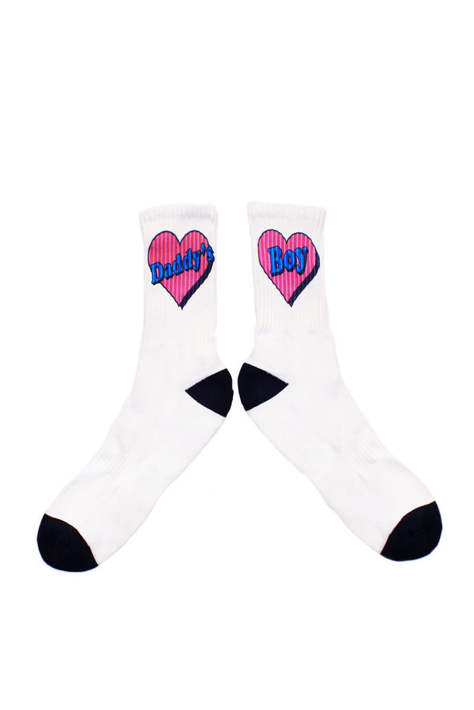 Daddy's Boy Socks- White