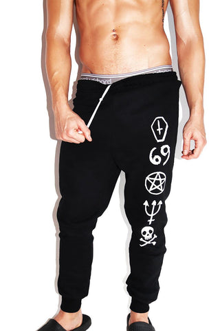 Dark Summoning Sweatpants-Black
