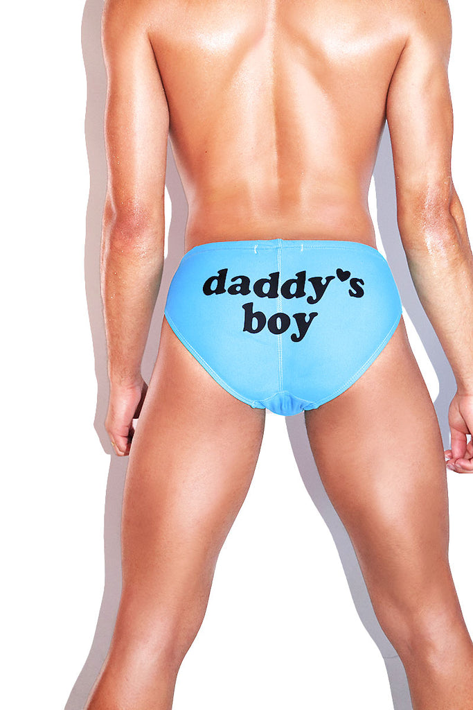 Daddy's Boy Swim Bikini- Blue