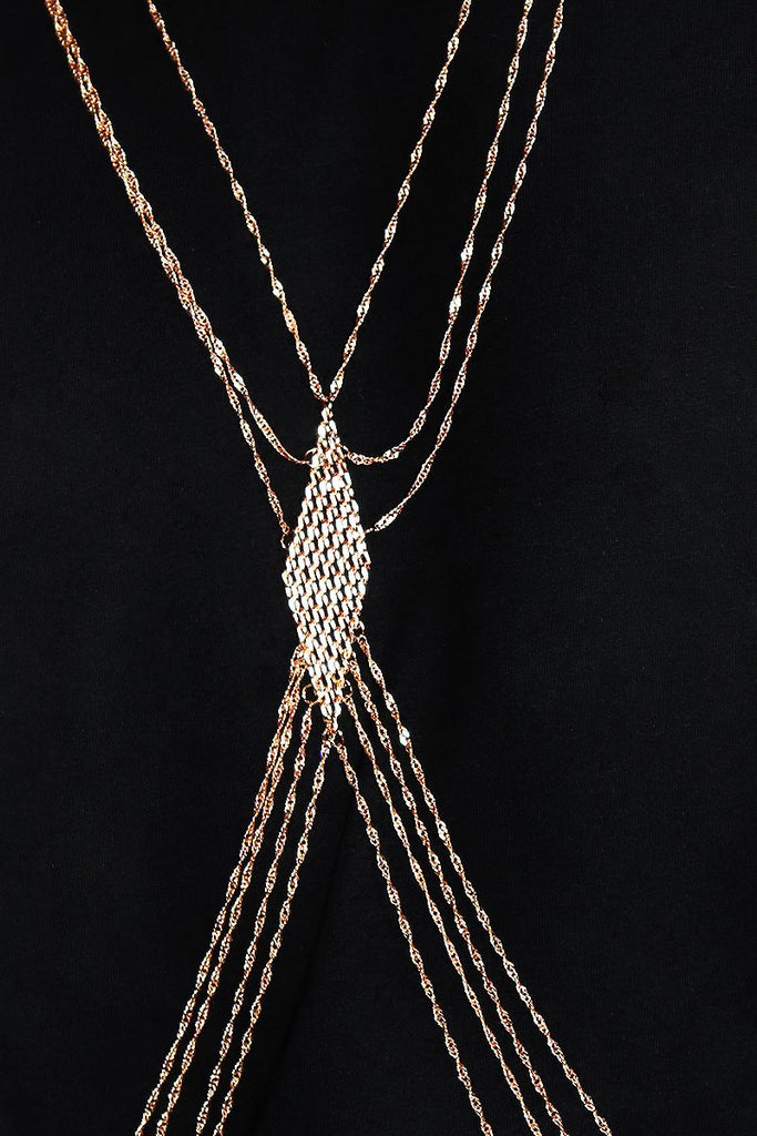 Diamond Chain Harness-Gold