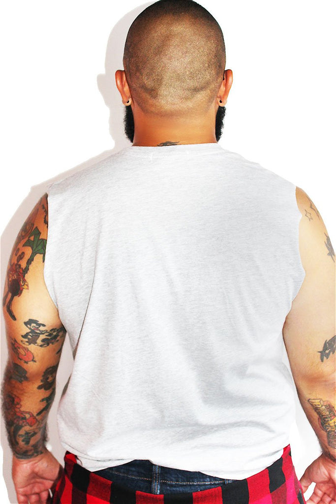 PLUS: Diet Cock Sleeveless Tee-Grey