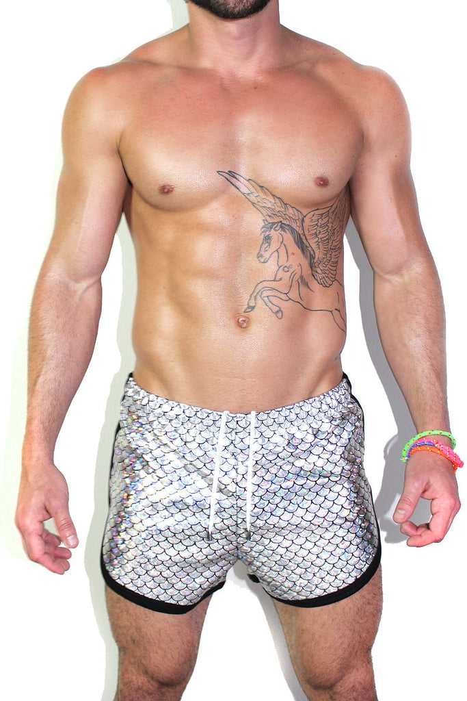 Dragon Scales Running Shorts- Holo