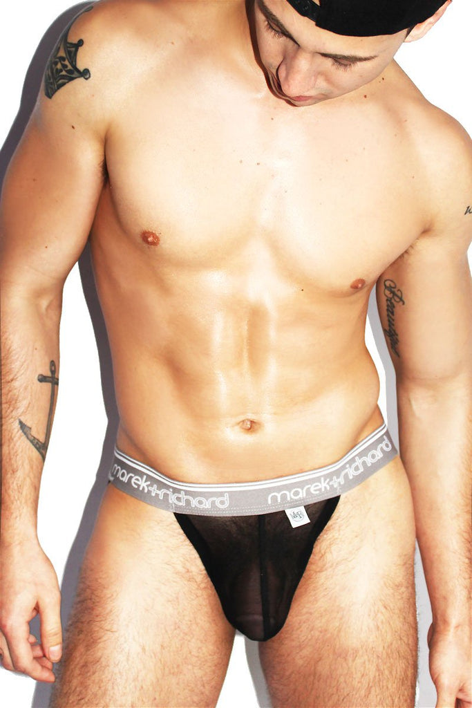 Dream Boy Mesh Jock-Black