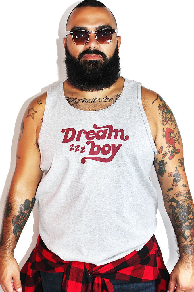 PLUS: Dream Boy Racerback Tank- Grey