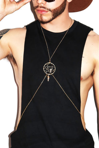 Holographic Chain Necklace-Gold