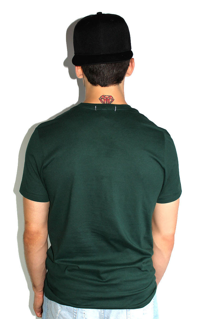 Core Crewneck Tee-Dark Green