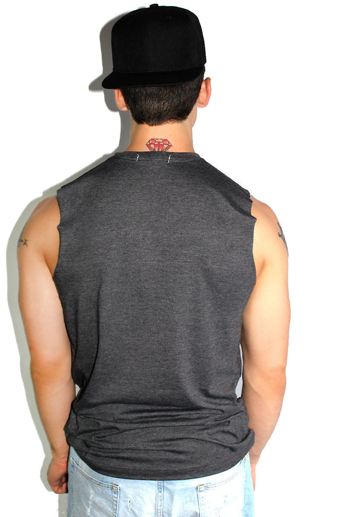 Core Sleeveless Tee-Dark Charcoal