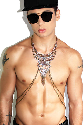 Royal Opulence Chain Harness-Gold