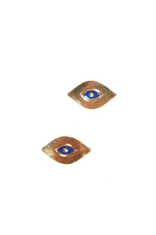 Evil Eye Earrings-Gold