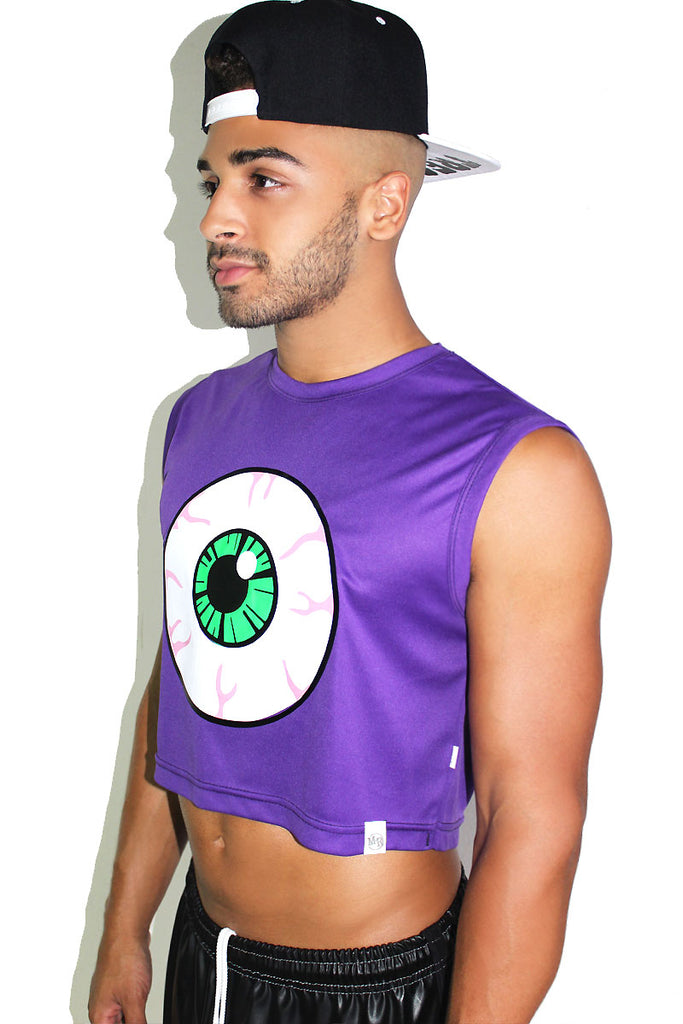 Eyeball Crop Tank- Purple