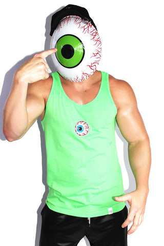 One Eyed Monster Racerback Tank- Neon Green