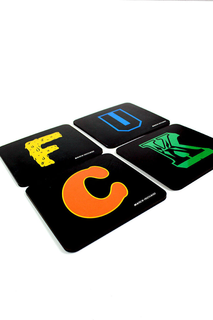 FUCK Coaster Set of 4