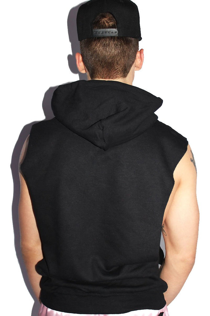 Fantasy Boy Sleeveless Hoodie-Black