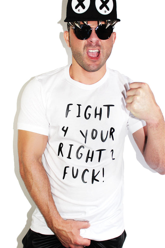 Fight 2 Fuck Tee-White