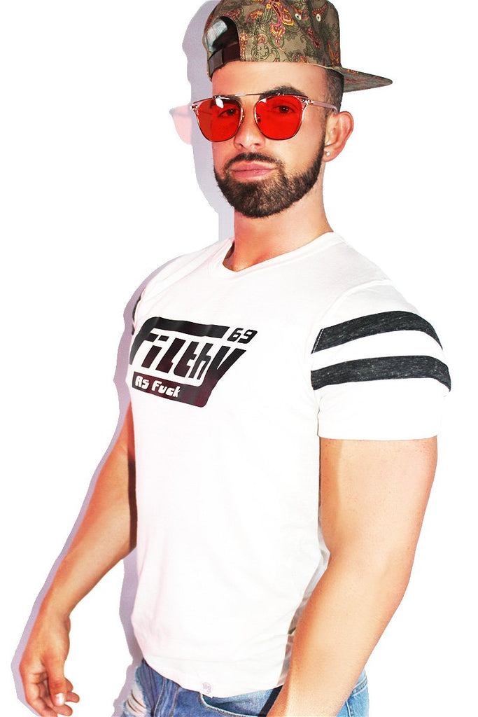 Filthy AF Football Tee-White
