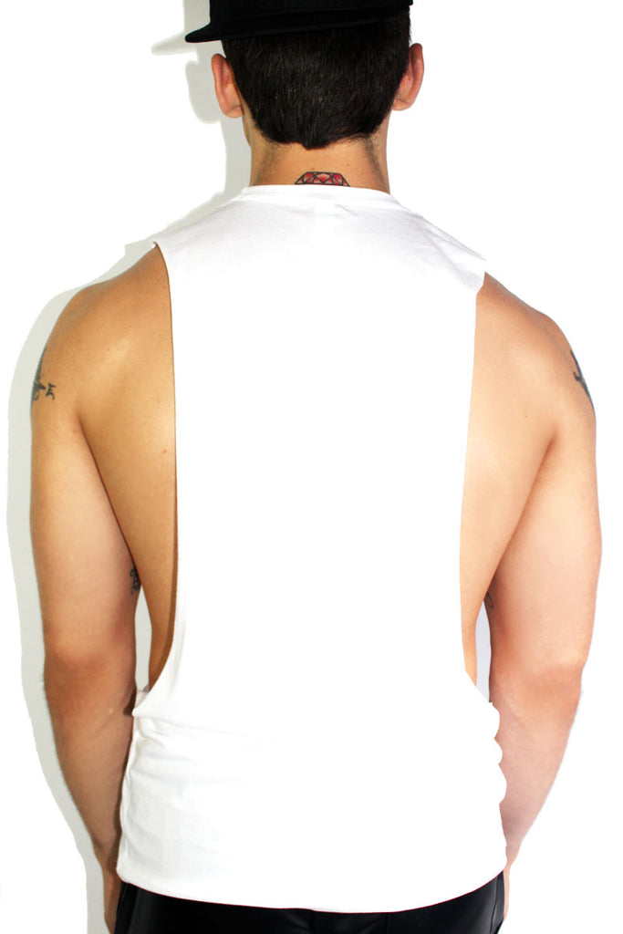 Fish Low Arm Tank- White