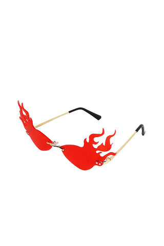 Flaming Hot Cat Eye Sunglasses- Red