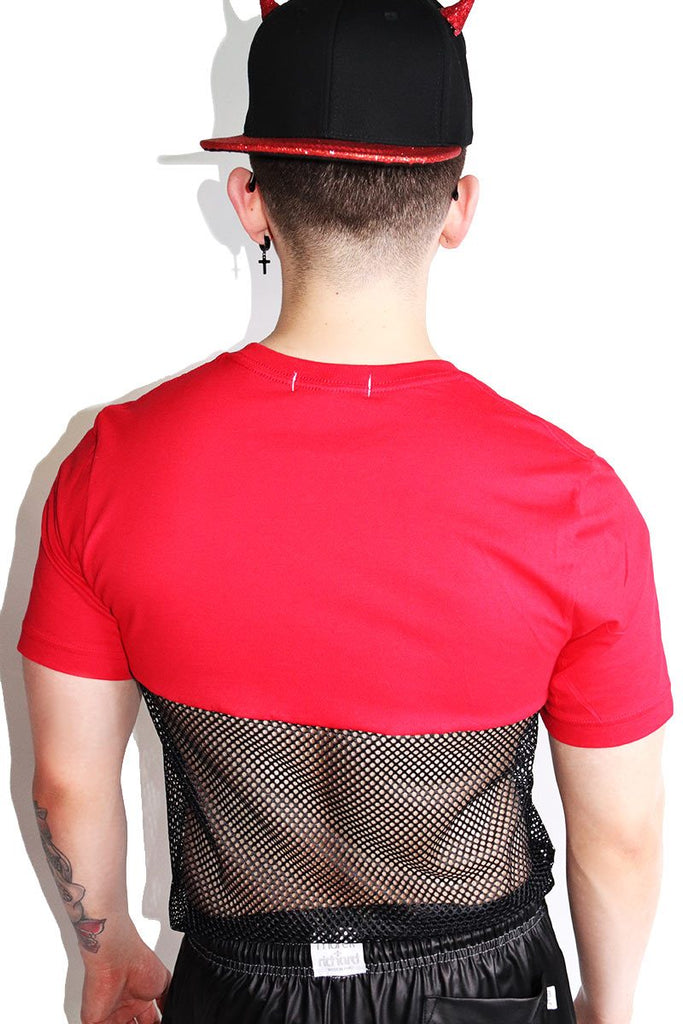 Flamin' Hot Mesh Tee-Red