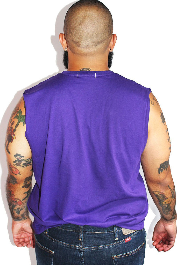 PLUS: Flamingo Patch Sleeveless Tee-Purple