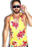 Floral String Tank-Yellow