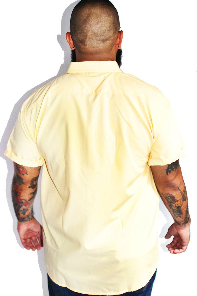 PLUS: Fast Food Patches Shirt - Yellow
