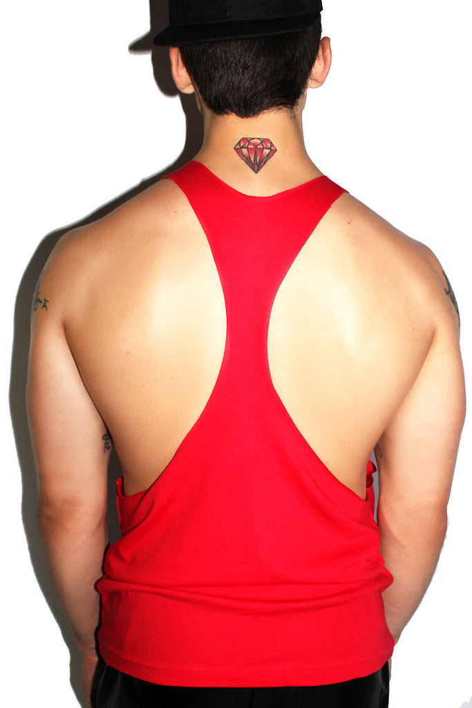 Fries B4 Guys String Tank- Red