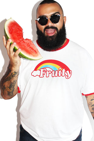PLUS: Fruity Ringer Tee-White