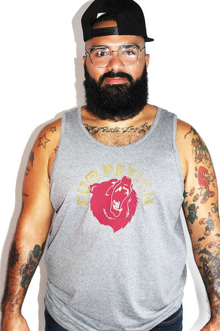 Blood, Sweat and Fur Low Arm Tank-Light Charcoal