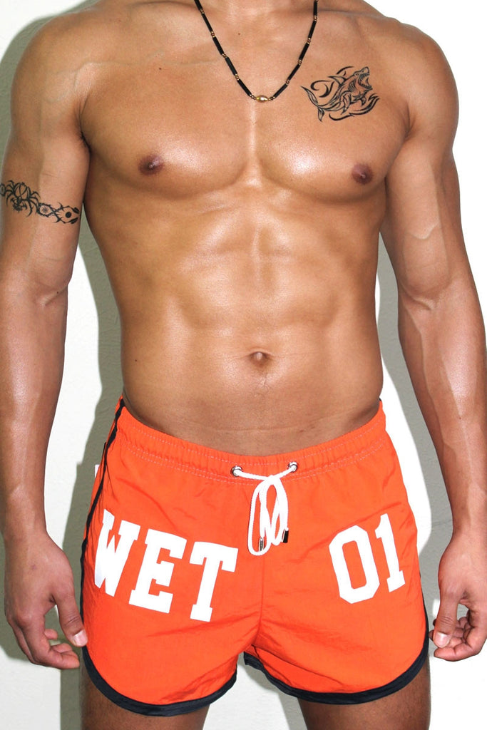 Wet One Board Short- Orange