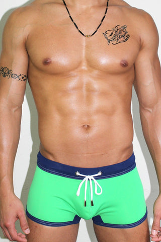 Get Wet Trunk Swimsuit- Green