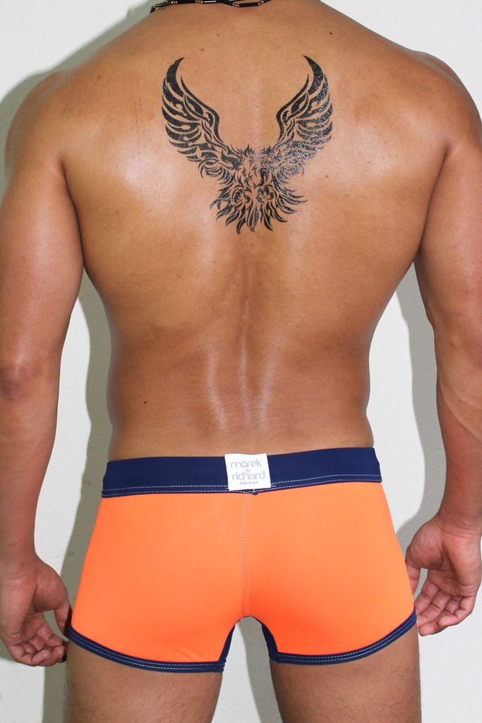 Get Wet Trunk Swimsuit- Orange