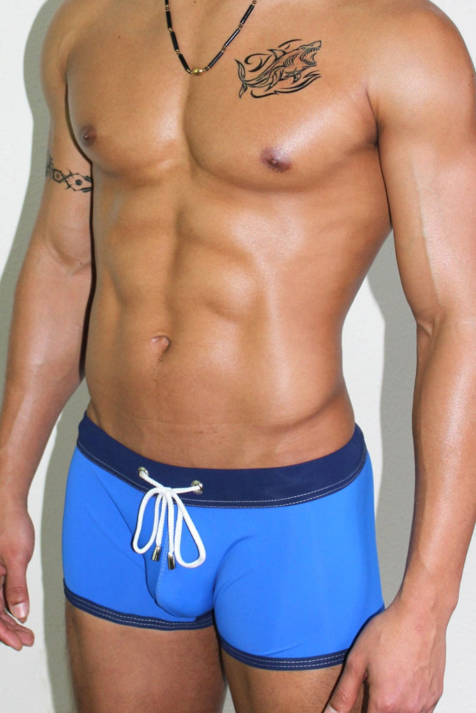 Get Wet Trunk Swimsuit- Royal