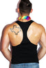 Gay Agenda String Tank- Black
