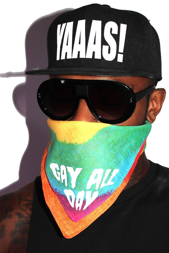 Gay All Day Bandana-Rainbow