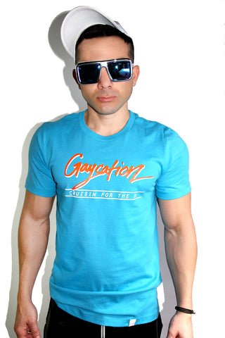 Gaycation Tee- Blue