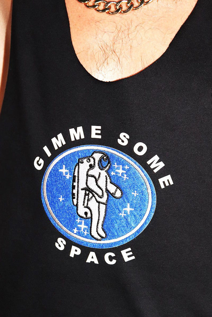 Gimme Some Space String Tank- Black