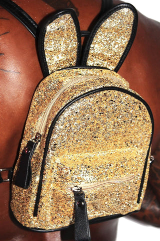 Bunny Ear Backpack-Gold