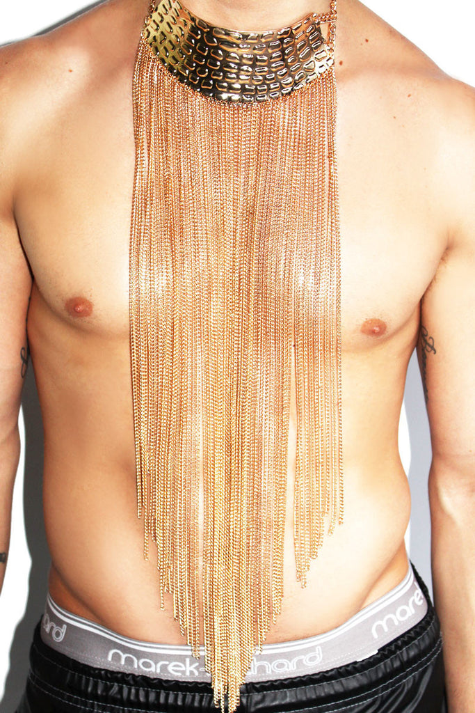 Chain Fringe Pectoral-Gold