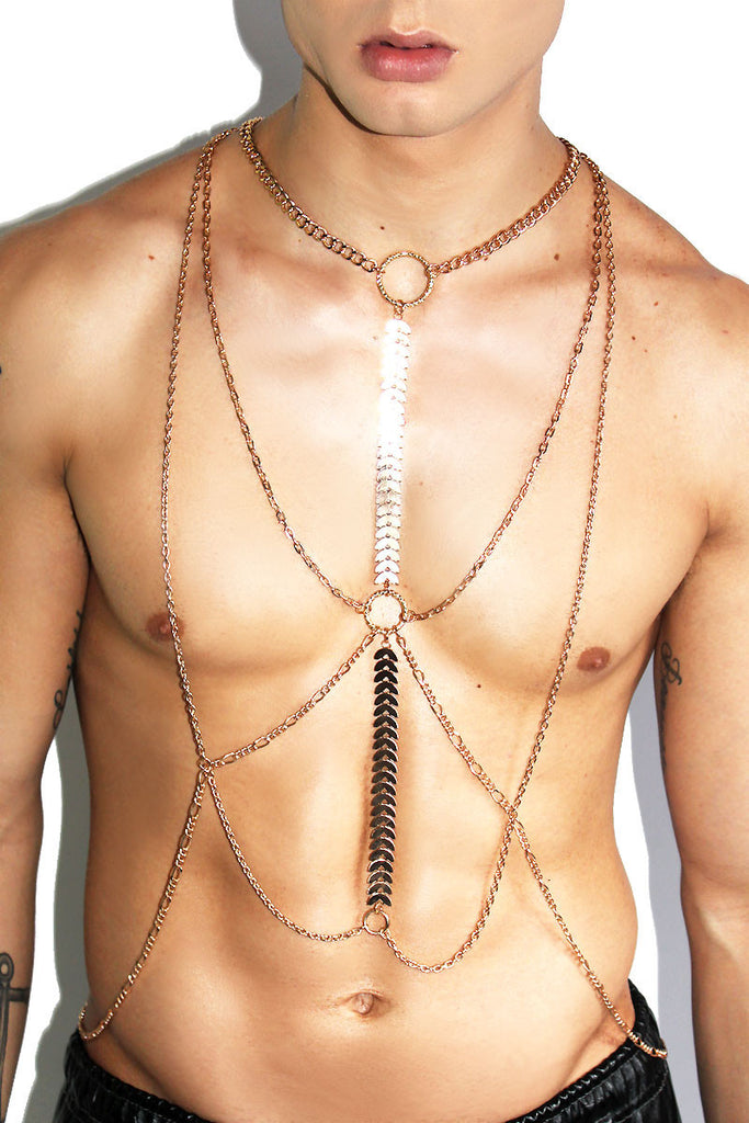 Flat Chain Harness-Gold