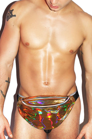 Holographic Fanny Pack- Gold